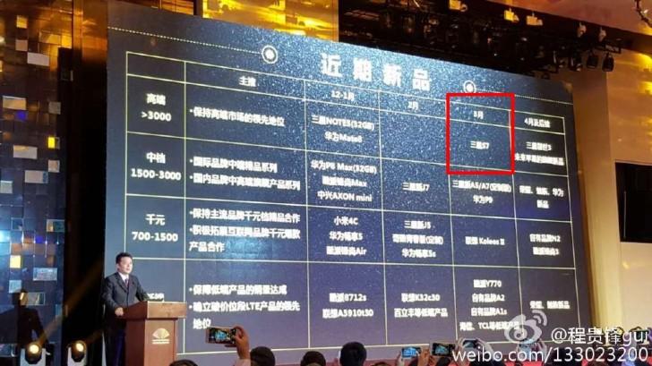 تایید عرضهی گلکسی اس 7 در ماه مارس از سوی شرکت چاینا موبایل
