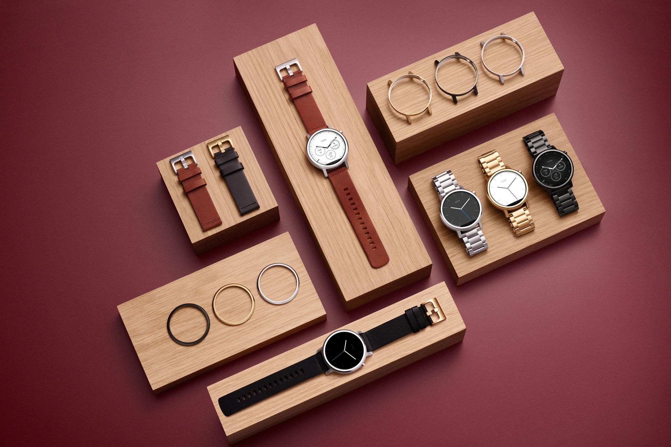 نمایی از مدل های مختلف ساعت هوشمند موتورولا