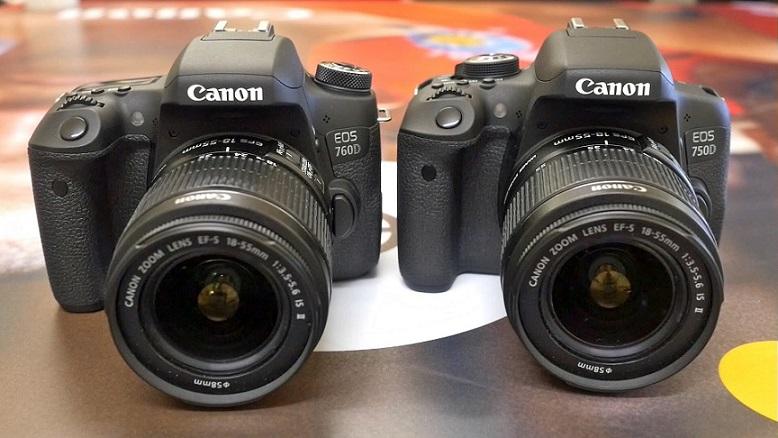 canon 750D vs canon 760D