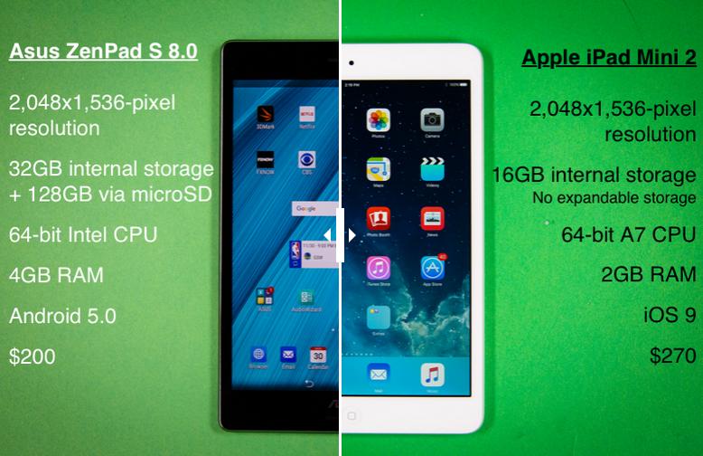 مقایسه تبلت های ایسوس و اپل