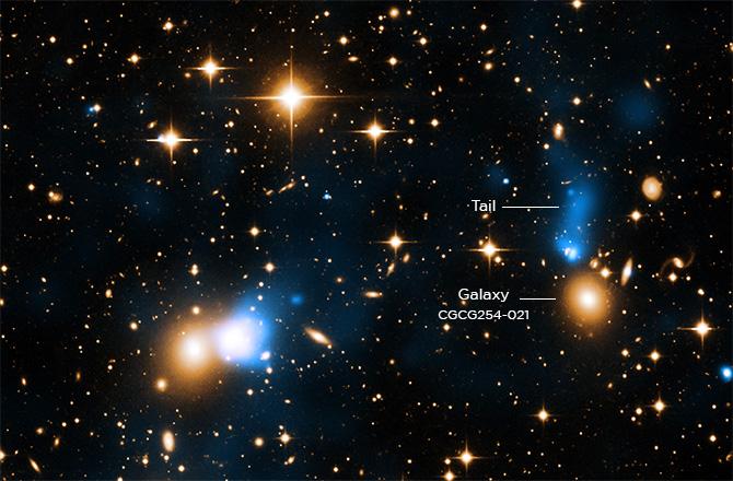 کشف یک دنباله عظیم کهکشانی