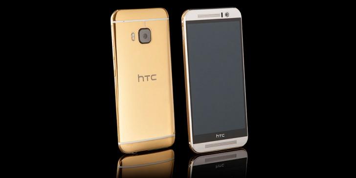 نمایی از HTC One M9 Gold