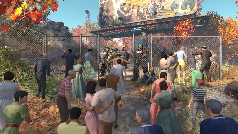 صحنه ای از ابتدای بازی بعد از بمباران هسته ای
