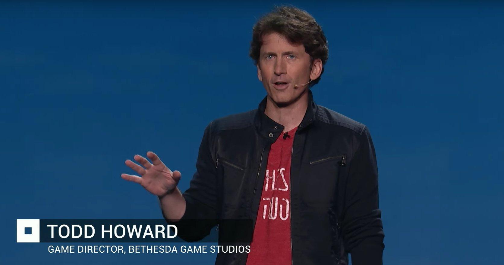 تام هاوارد، در حال ارائه Fallout 4 برای اولین بار درمراسم E3 در لس آنلس کالیفرنیا