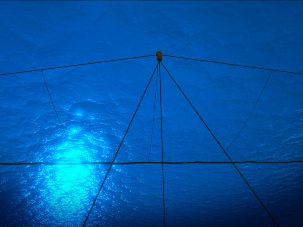 سیستم پاکسازی اقیانوس. تصویر برداری شده از نقاط لنگرگاه