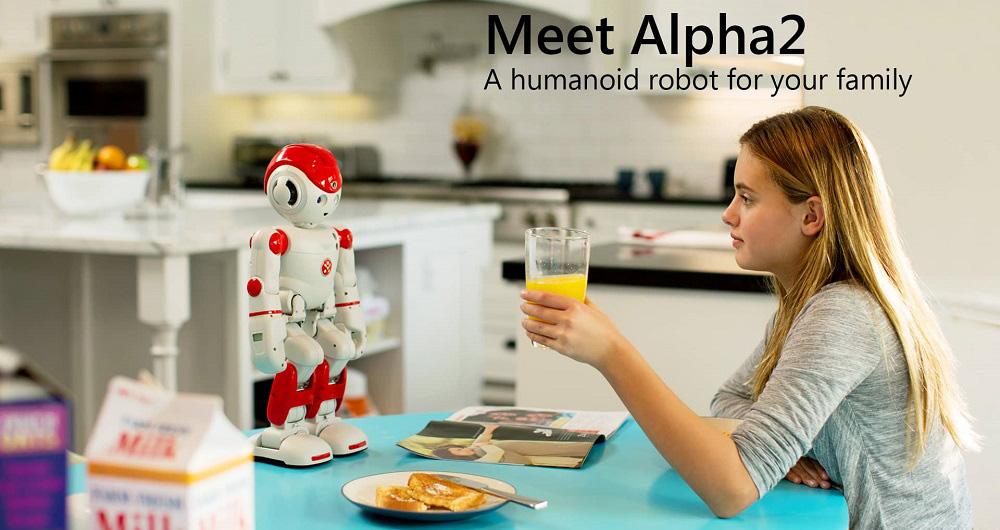 ربات کوچک و راهنمای Alpha 2 کمپانی UBTech به CES 2016 آورده شد