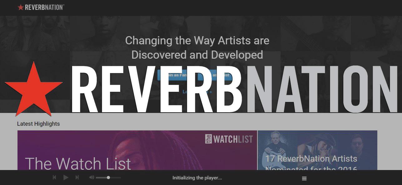 Reverb Nation شبکه اجتماعی موسیقی