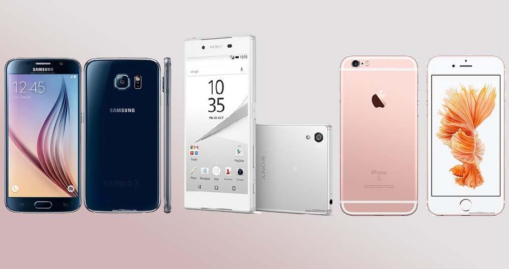 مقایسه سه گوشی گلکسی اس 6، اکسپریا زد 5 و آیفون 6 اس