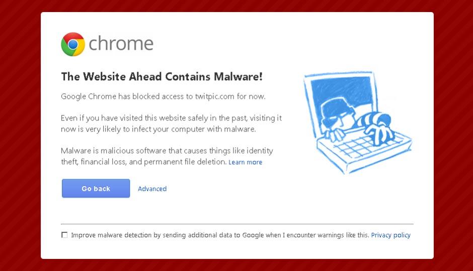 گوگل وب سایت های مشکوک را مسدود می کند