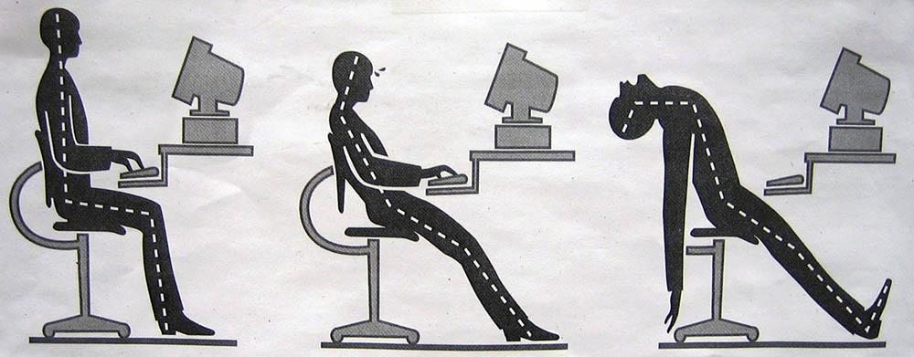 نحوه صحیح نشستن جلوی رایانه