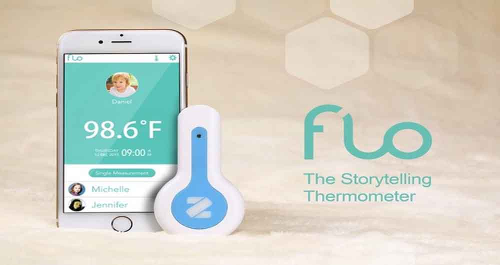 تب سنج Flo بدون تماس با بدن تب شما را تشخیص می دهد