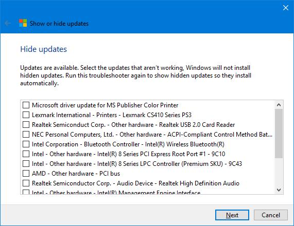 Windows-10-Hide-Updates-List