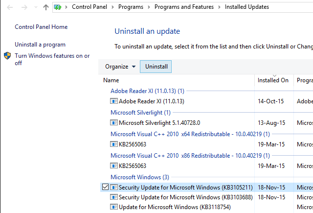 Windows-10-Uninstall-Updates