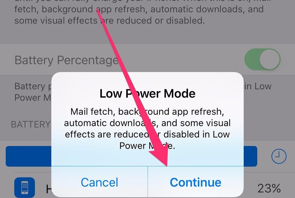 battery saver turn on