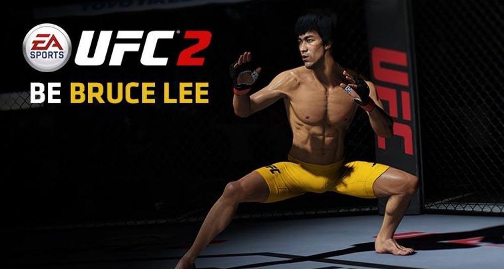 بروس لی در بازی UFC 2 حضور دارد