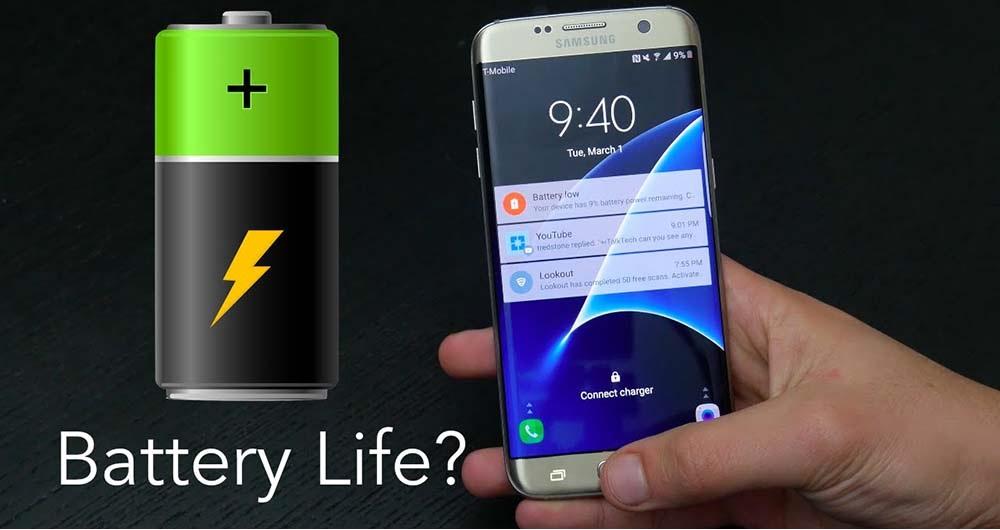 مقایسه عملکرد باتری دو نسخه اگزینوسی و اسنپدراگونی گلکسی S7 Edge سامسونگ
