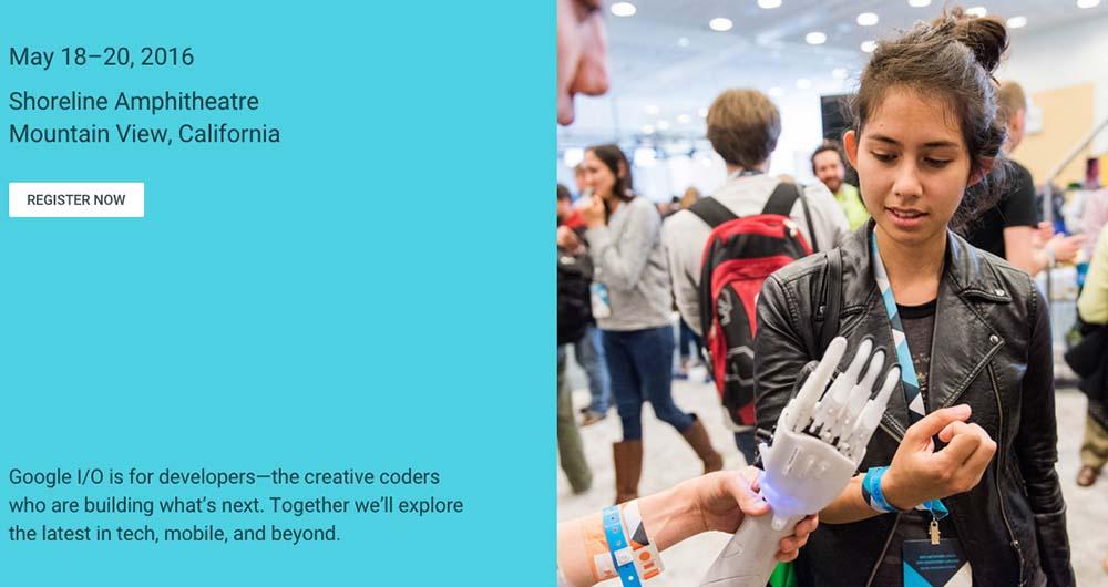 ثبت نام رسمی برای شرکت در کنفرانس Google I/O 2016 آغاز شد