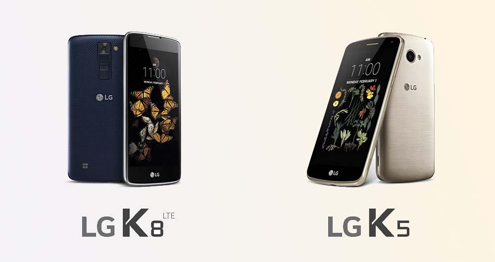 الجی از دو گوشی میان رده K5 و K8 رونمایی کرد