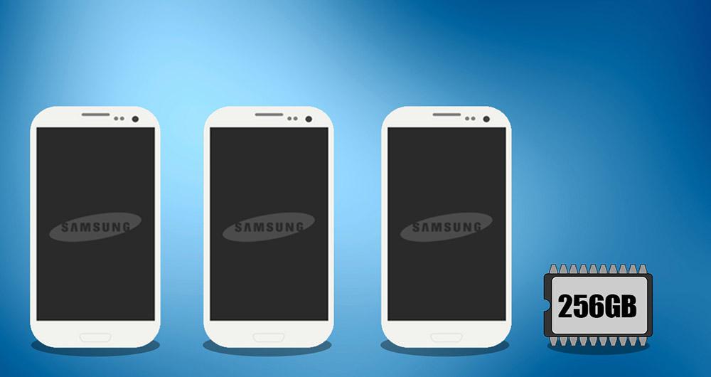 رونمایی سامسونگ از حافظه 256 گیگابایتی گوشی های هوشمند