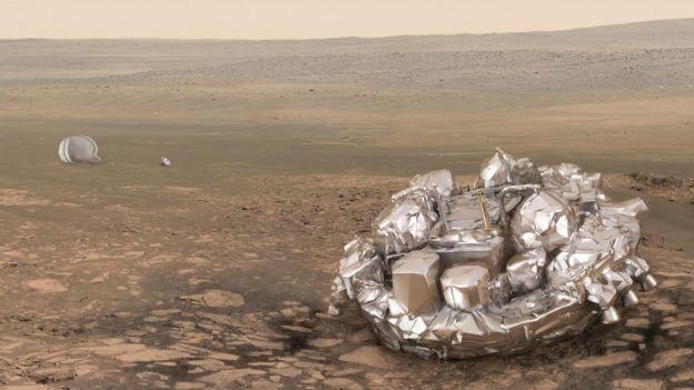 ماهواره در سطح مریخ