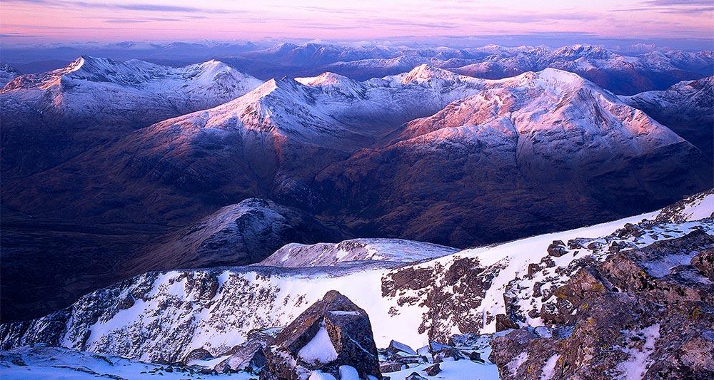 قد کشیدن بلندترین کوه بریتانیا