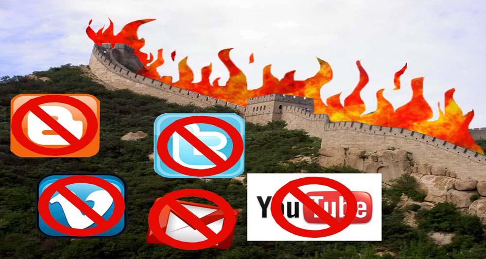 محدود شدن وب سایت های خارجی توسط چین