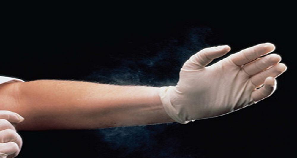 دستکش های پزشکی پود دار