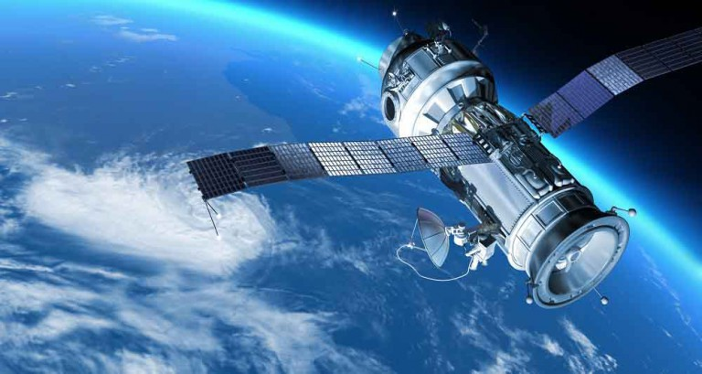 Space station in Earth orbit.