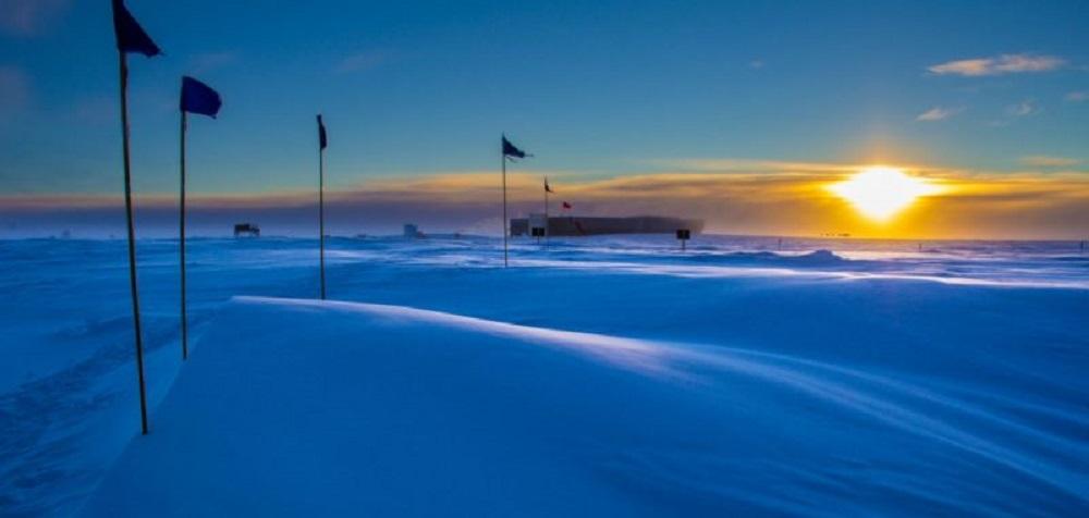 رویت آخرین خورشید در قطب جنوب
