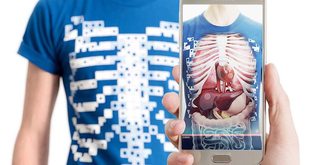 دیدن اندام های درونی بدن با تی شرت واقعیت مجازی