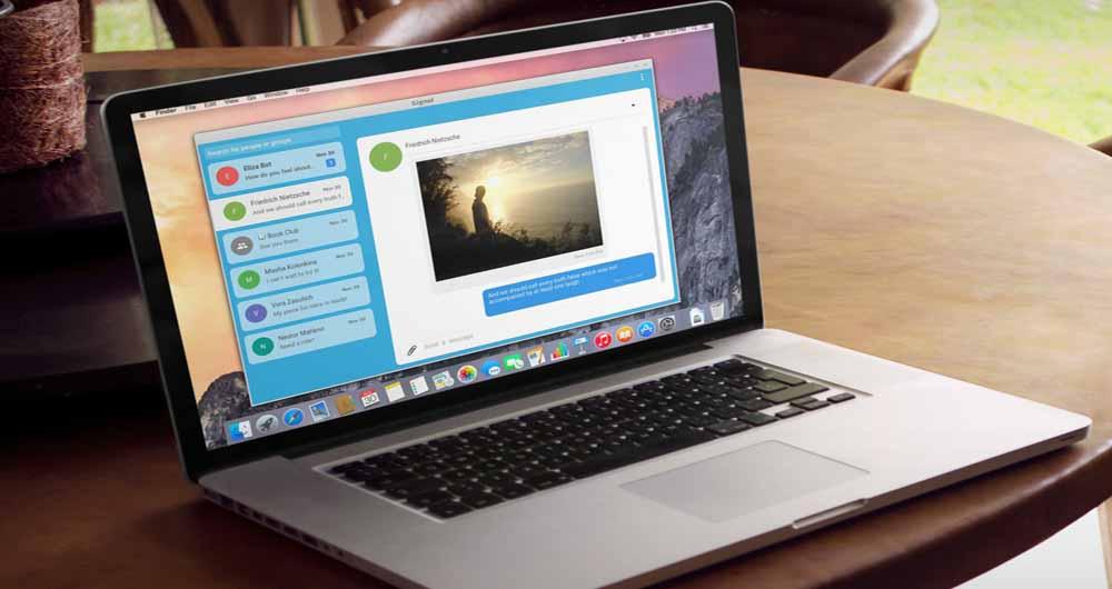 ارتباط امن با دیگران با پیام رسان نسخه کامپیوتر Signal