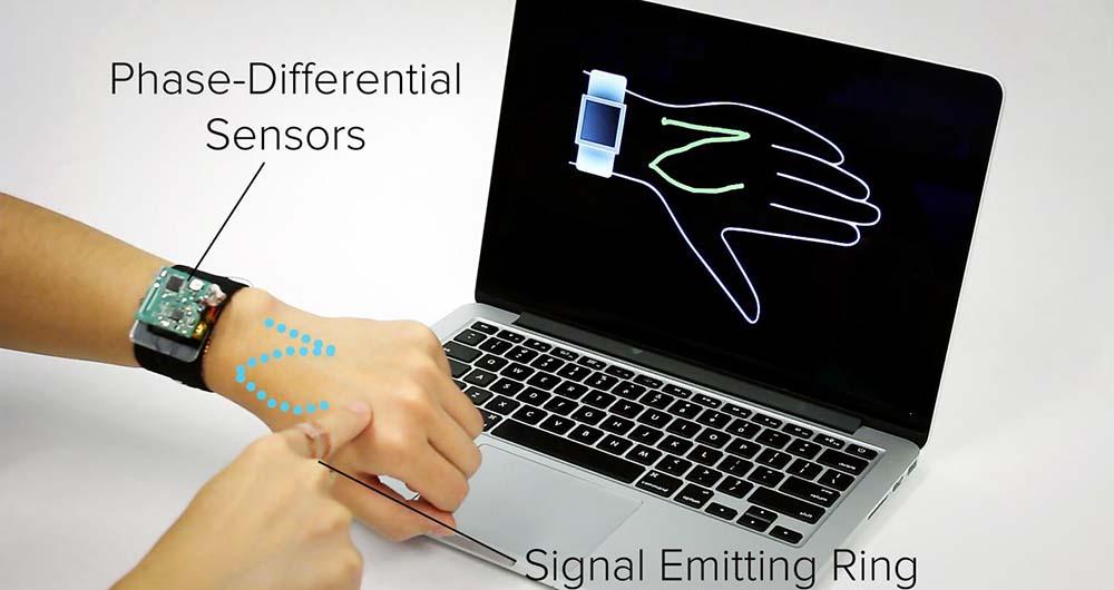 پتنت جدید سامسونگ دست شما را به نمایشگر لمسی ساعتتان تبدیل میکند