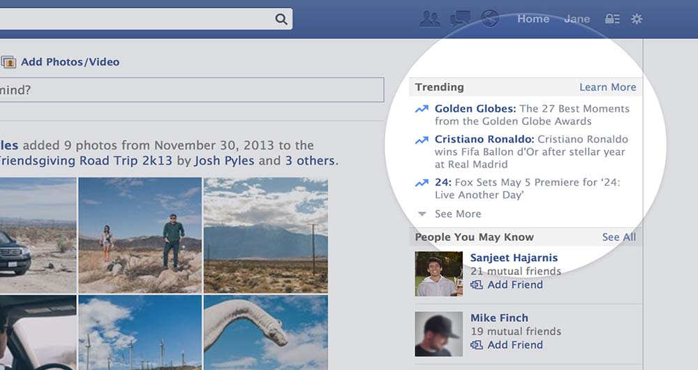 در پشت پرده خبرهای بخش Trending فیس بوک چه می گذرد
