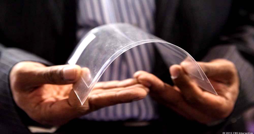 نقش پر رنگ شیشه های تاشو و منعطف در تکنولوژی آینده