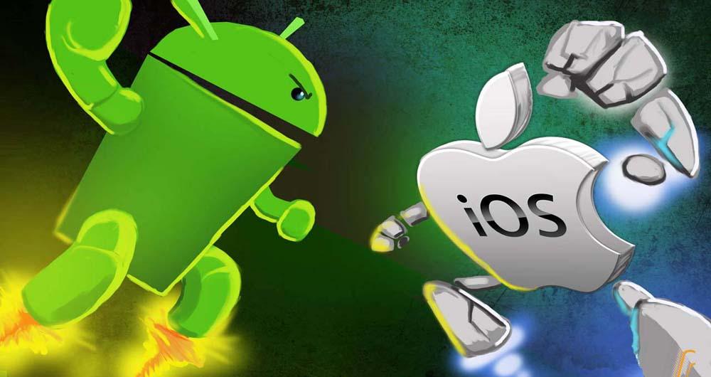 فعالیت کمتر کاربران اندروید نسبت به IOS در اینترنت