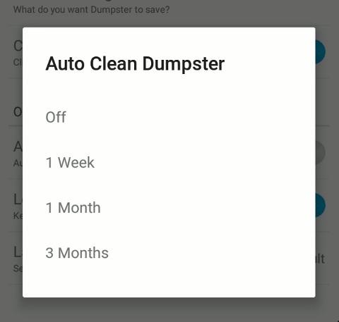 حذف اتوماتیک نرم افزار Dumpster