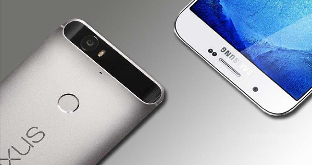 مقایسه Huawei Nexus 6P و Samsung galaxy J7