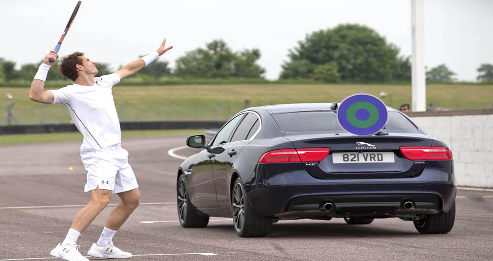تماشا کنید؛ چالش جالب تنیسور معروف و جگوار