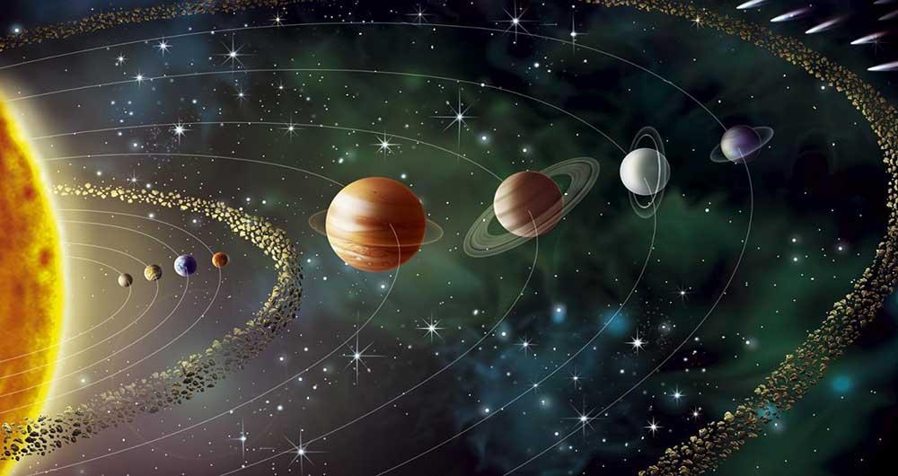 نتیجه تصویری برای منظومه شمسی