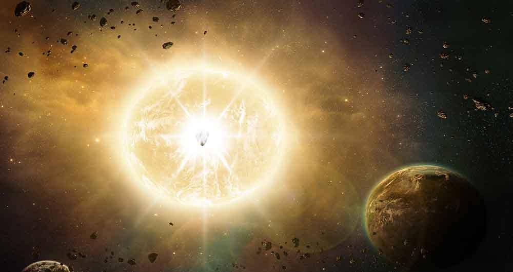 تصاویر جذاب قبل و بعد انفجار ستاره در فضا