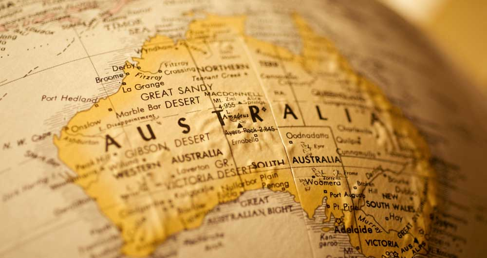 australia-on-map