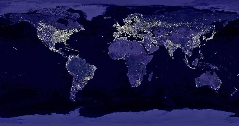 تشخیص مناطق فقیر و غنی جهان از فضا به کمک تصاویر ماهواره ای