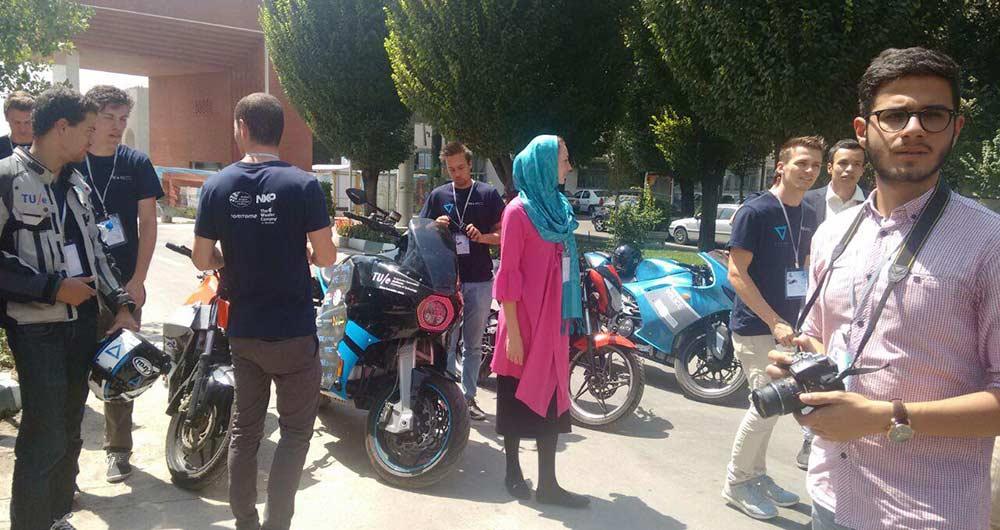 موتورسیکلت الکترونیکی تیم هلندی در تهران