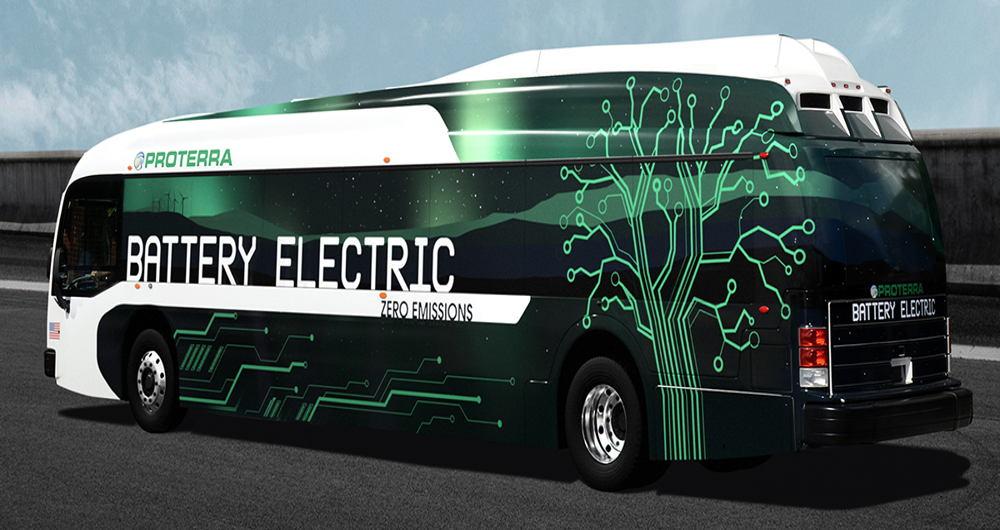 اتوبوس الکتریکی با یک بار شارژ ۵۵۰ کیلومتر حرکت می کند