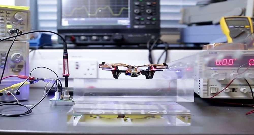 پهپادی که بدون باتری پرواز می کند