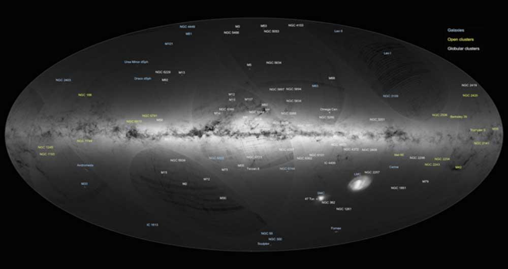 تهیه بزرگترین نقشه ستارگان با دو میلیون ستاره