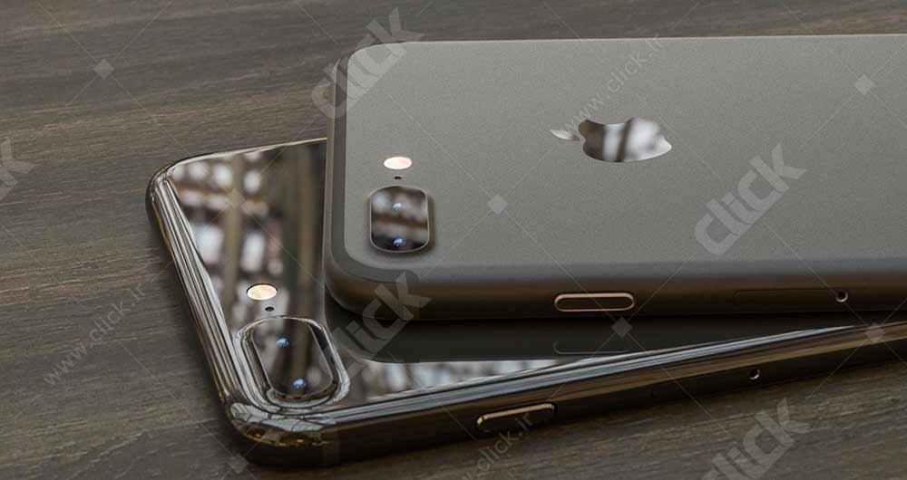تصویر آیفون 7 به رنگ مشکی براق و مات