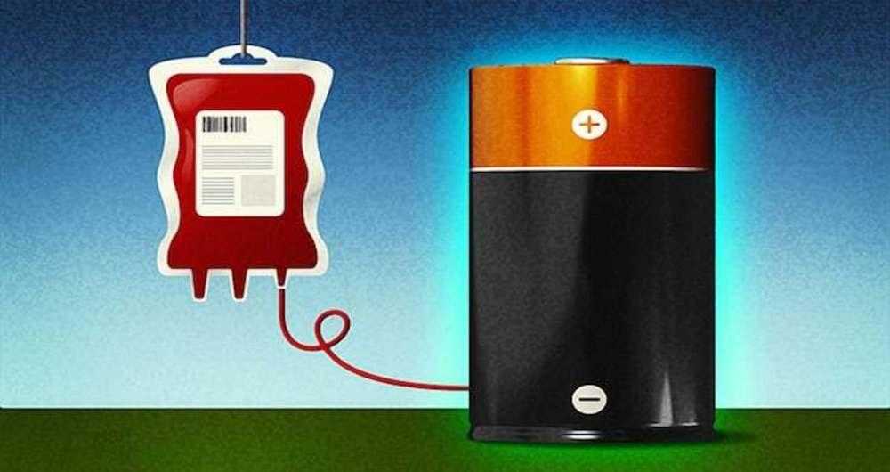 باتری قابل شارژ از خون