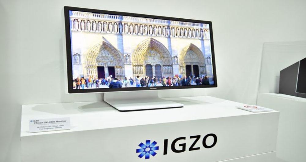رونمایی شارپ از فناوری IGZO و یک مانیتور 27 اینچی با دقت 8K