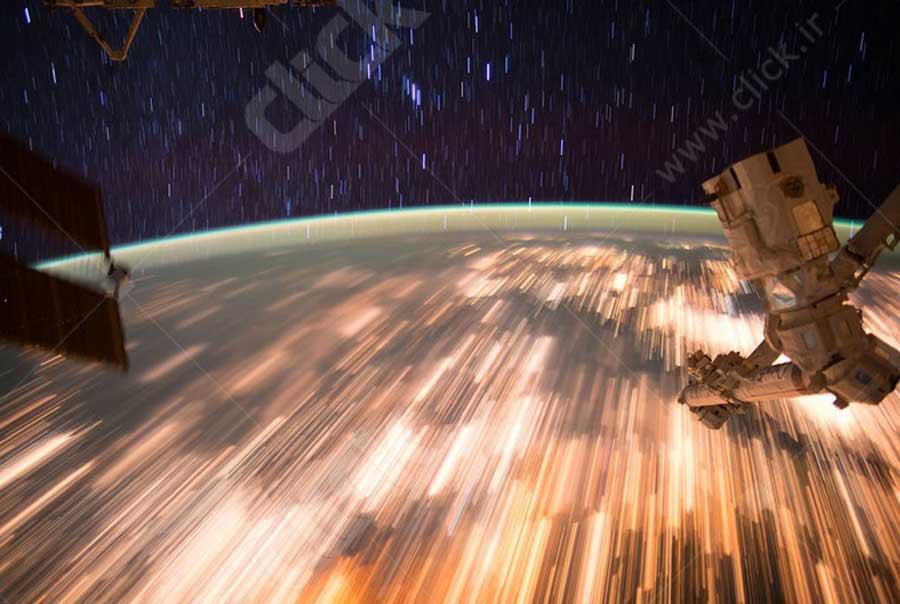 رد ستاره ای از ایستگاه فضایی